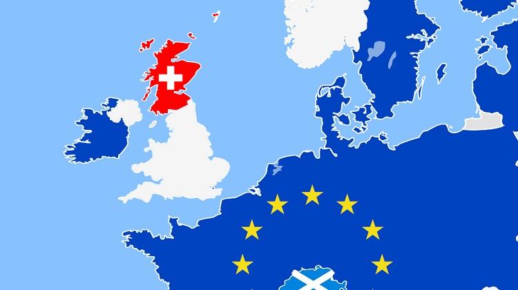 карта Шотландии и Великобритании